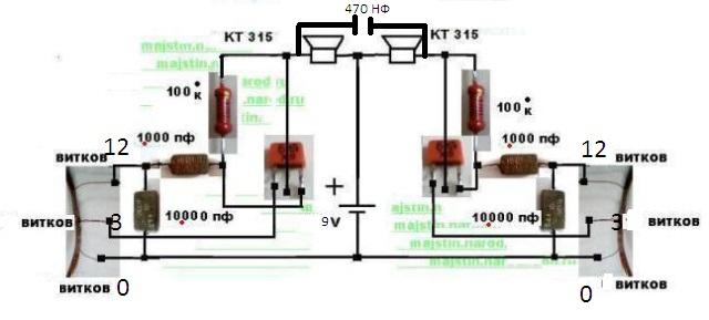 Схема простой металлоискатель своими руками